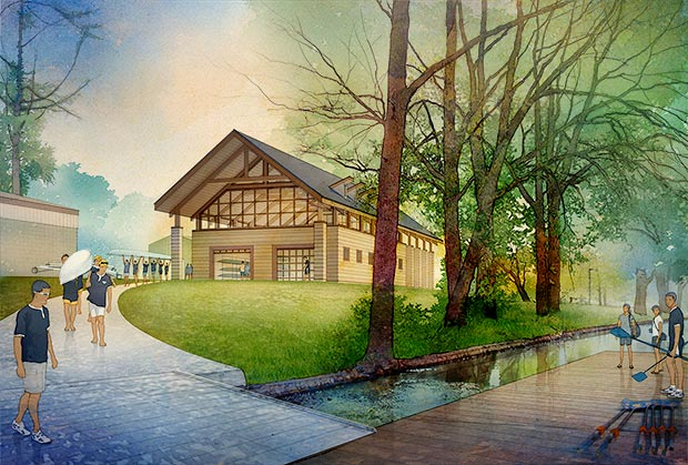 Notre Dame Boat House Creative Media Illustration